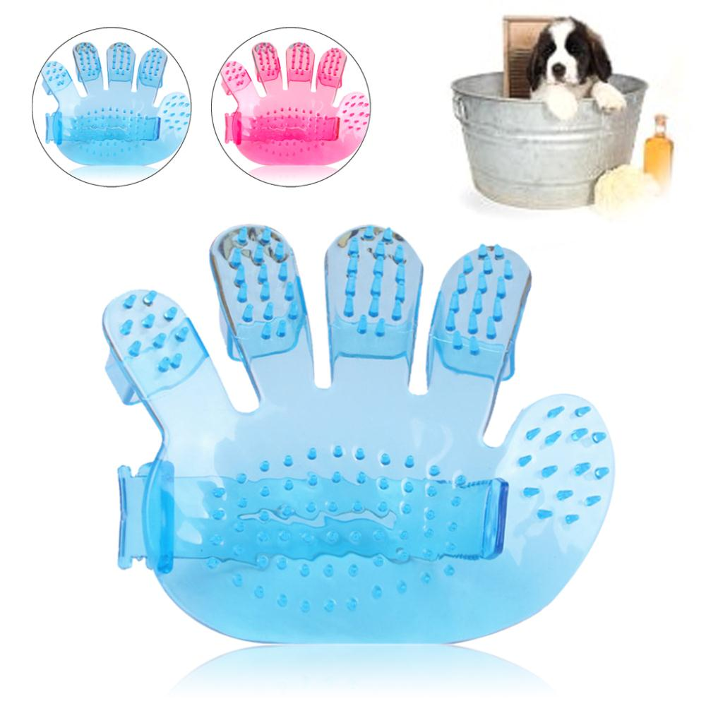 2015 New fashion Pet Dog Cat Hand Shaped Bath Brush Massage Rakes Brush Comb Cleaner Massager blue pink JJ0610(China (Mainland))