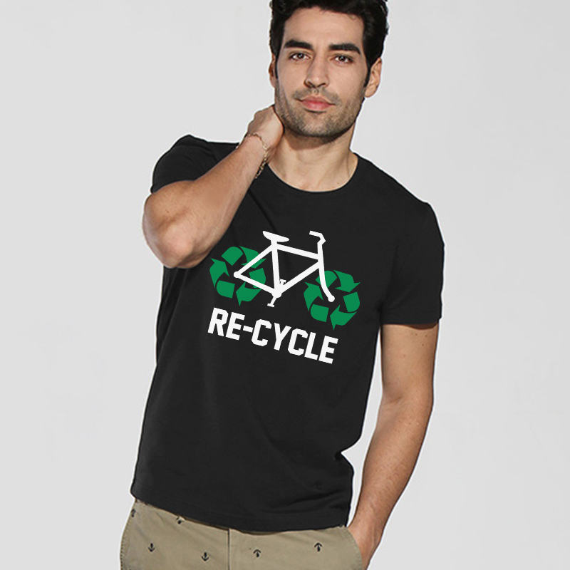 Cool Mens Plain T Shirts Re-Cycle Funny DesignОдежда и ак�е��уары<br><br><br>Aliexpress