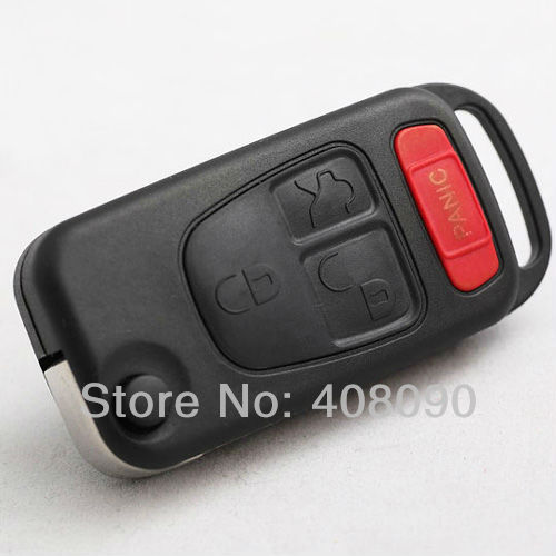 Folding flip remote key keyless fob shell case for for Mercedes benz keyless entry