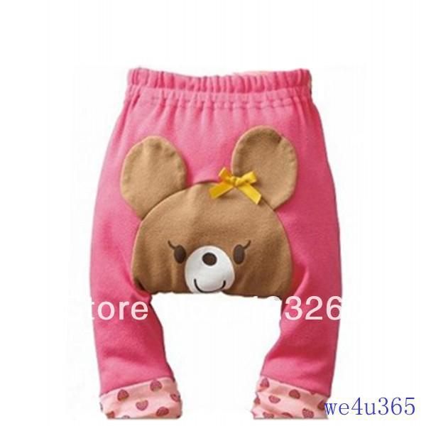 1Pc Bear Pink Cute Pattern Kid Toddler Unisex Boy Girl Baby Legging PP Pant Trousers S M L LKM006(China (Mainland))