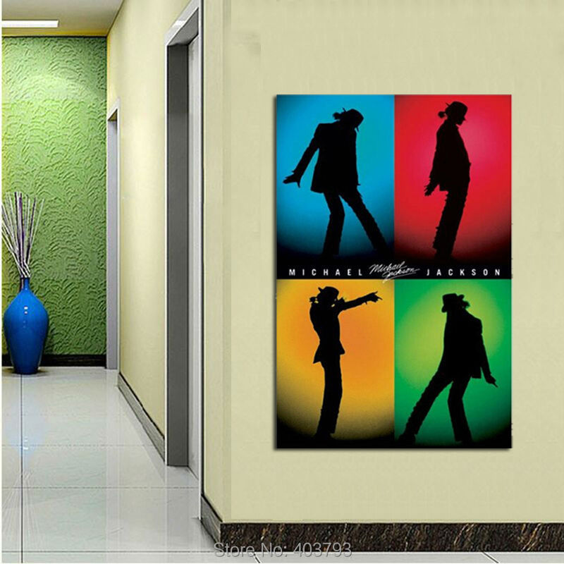 Michael Jackson Dancing Luxary Home Decoration Fashion Poster Print Size(40x60)cm Wall Art For Living Room(China (Mainland))