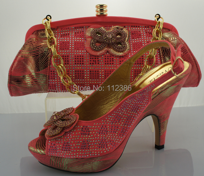 Fashion Style Italian Shoes And Bags To Match Army Green Design With Plenty Stone And Color