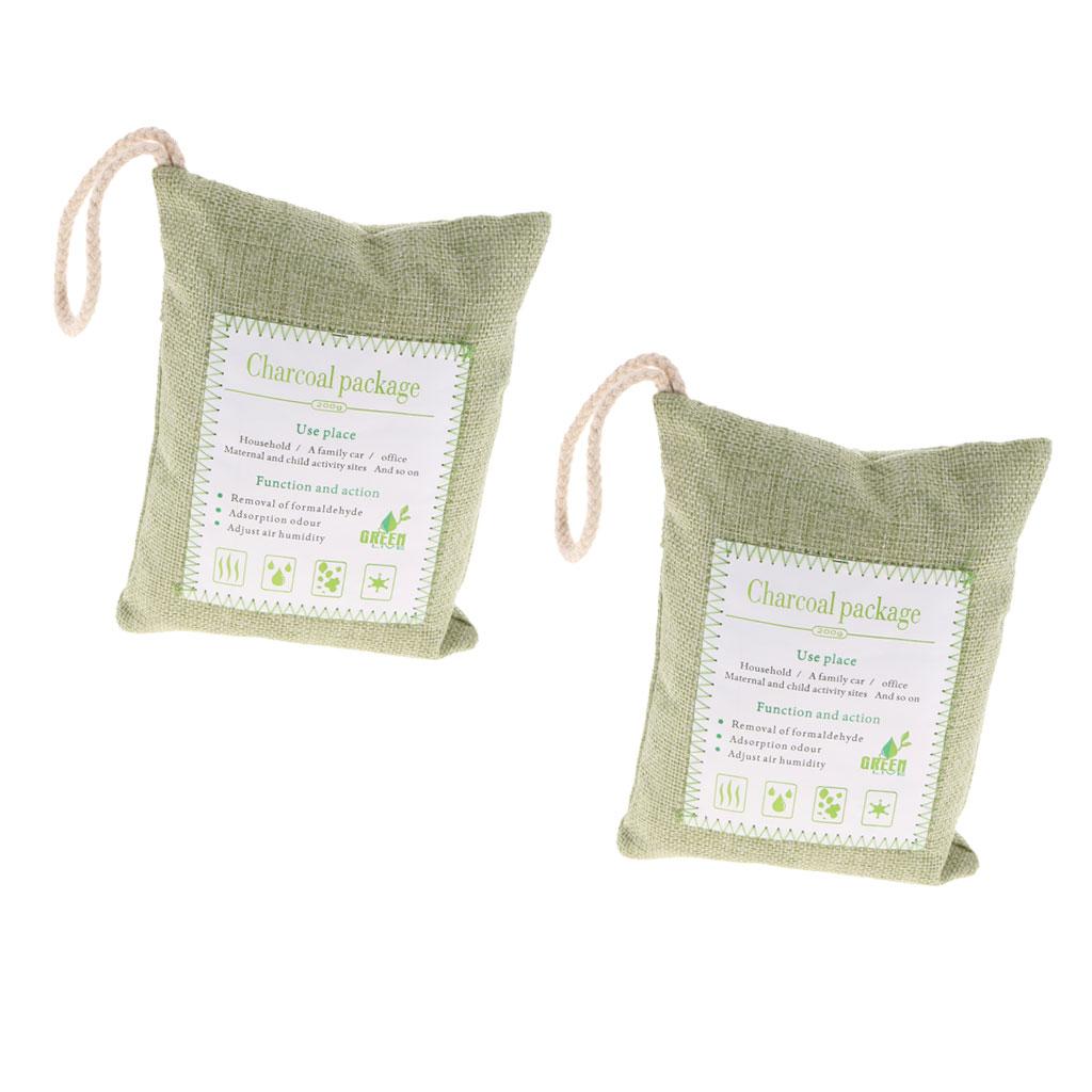 2 шт бамбуковый уголь натуральный воздух очищающий освежитель мешок
