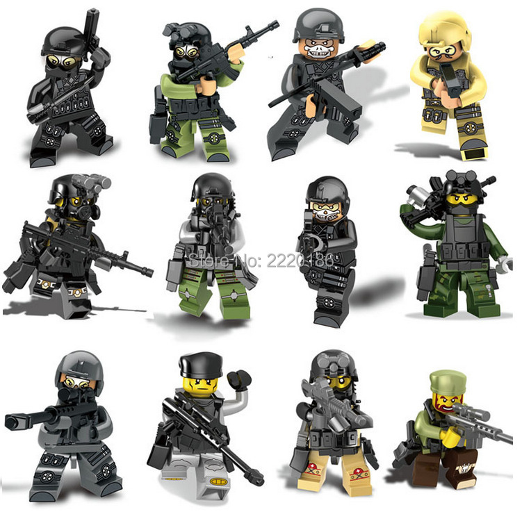 SWAT The Wraith Assault Armas Ghost Commando Building Blocks Army weapon Armed Forces Toy Compatible lego(China (Mainland))