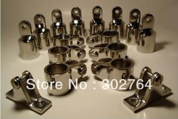 """3-Bow Bimini Top Boat Stainless Steel Fittings Hardware Set 7/8"""" - 12 pieces"""