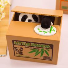 2015 Automated cat steal coin bank,kitty panda money box,storage jar for kids,money bank novelty toys/gift(China (Mainland))