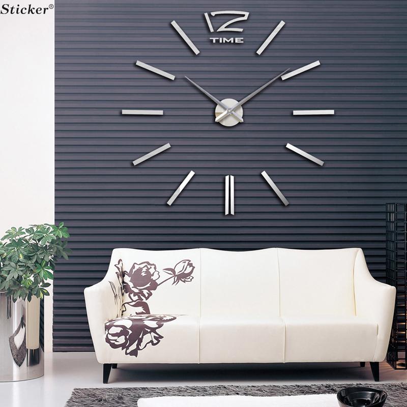 New Home home Decor Big Digital Wall Clock Modern Design,Large Decorative Designer Wall Clocks.Watch Wall Hours,Unique Gift(China (Mainland))