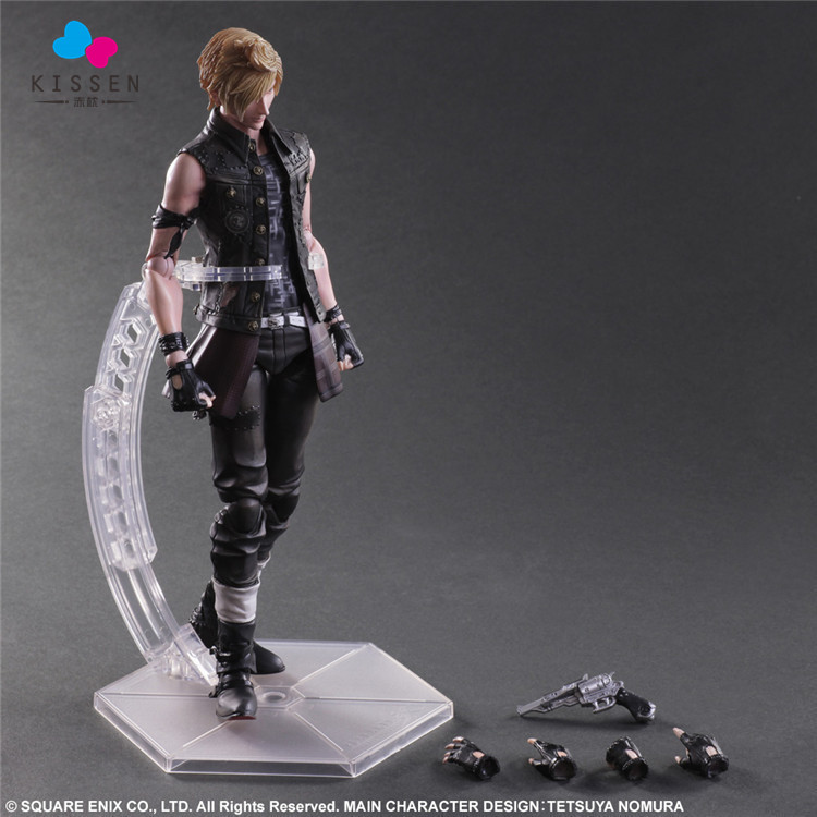 Kissen Play Arts Final Fantasy Figure Final Fantasy XV Prompto Argentum Figure PA 27cm PVC Action Figure Toys(China (Mainland))