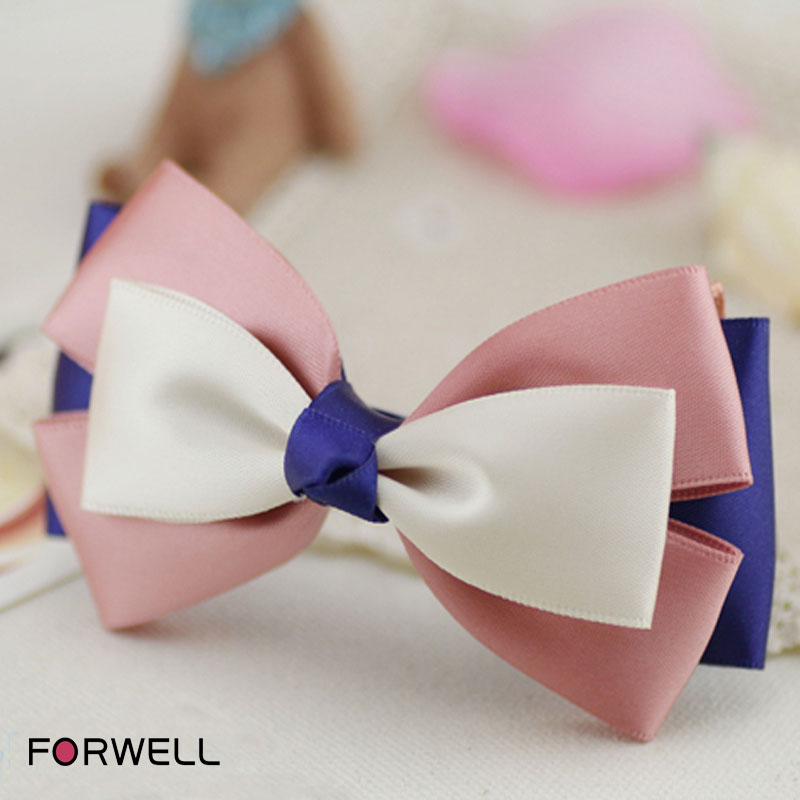 Summer jewelry hair clips barrettes for women girls headwear handmade satin bow hair clip girls barrettes hair accessories(China (Mainland))