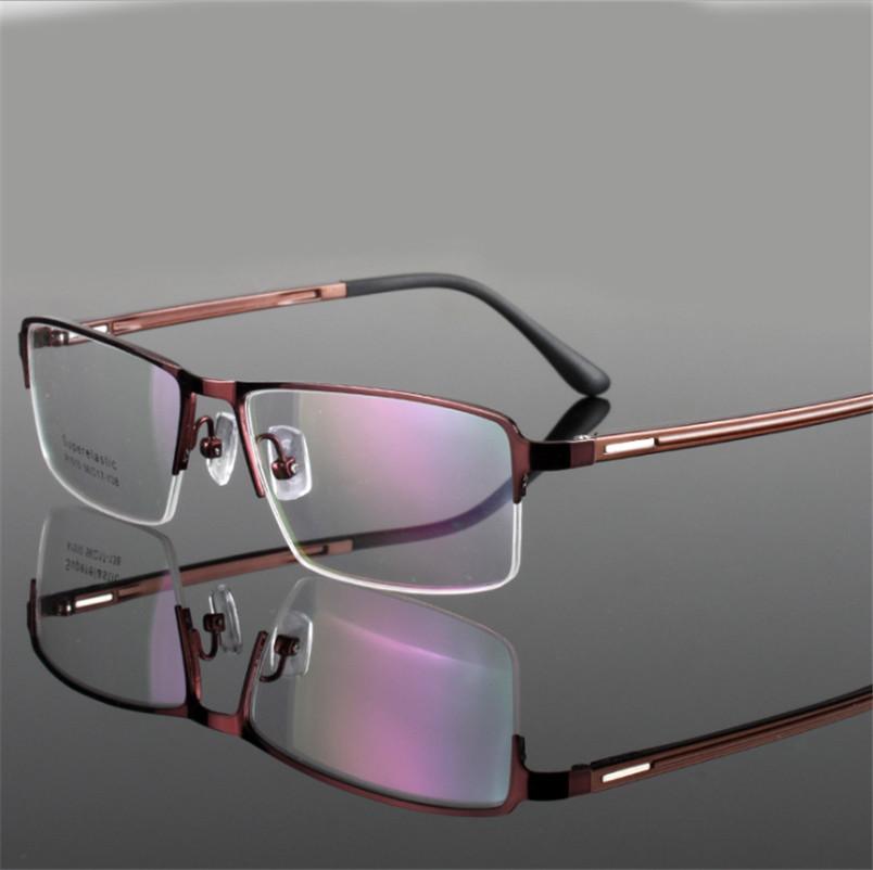 men spectacle eyeglasses Ultrathin alloy spectacle optical Half frames women Myopia eye glasses frame Oculos De Grau
