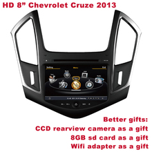 "HD 8"" Chevrolet Cruze 2013 in Car DVD Player GPS  DVR WIFI 3G Better Quality Better Service Free Shipping+Better Gifts included(China (Mainland))"