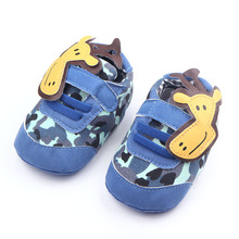 Fancy Animal Design Hook&Loop Kids Toddler Shoes Soft Sole Jute And Leather Baby Shoes For Baby Boy Girl(China (Mainland))