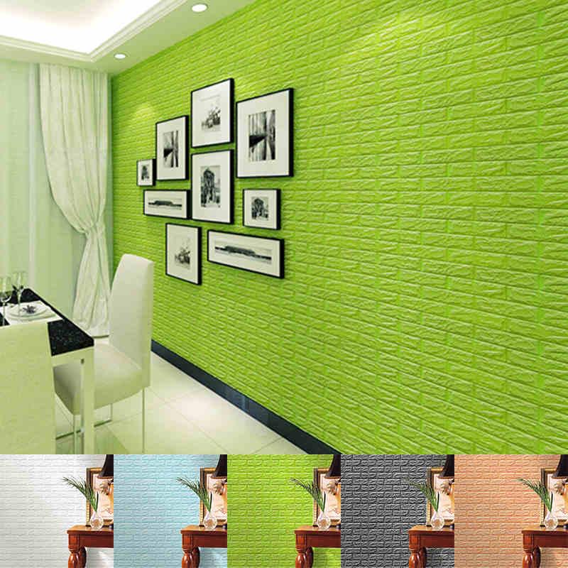 new arrival 3d brick stone wallpaper pe foam diy wall stickers self
