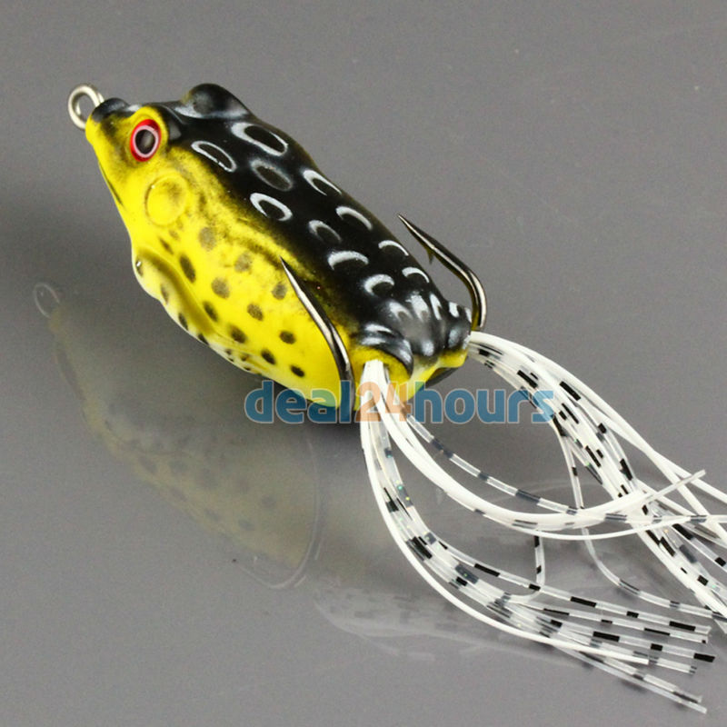 1pc topwater frog hollow body soft fishing lures crankbait for Frog lures for bass fishing