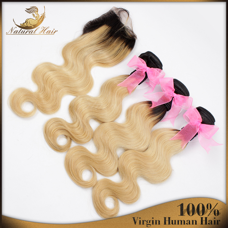 Peruvian Virgin Hair With Closure Ombre Peruvian Body Wave 3 Bundles With Closure Ombre Human Hair Bundles With Lace Closure <br><br>Aliexpress