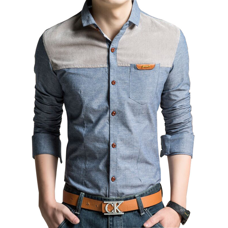 Big Size M 4xl Men Fashion Shirts 2015 New Korean Vintage