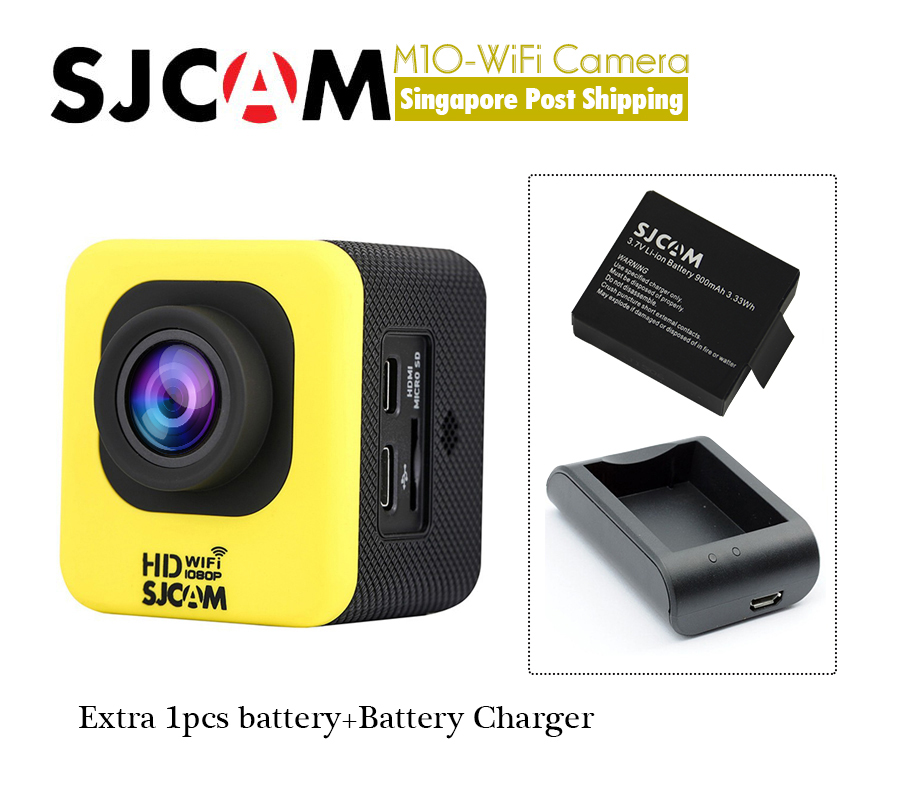 Здесь можно купить  Original SJCAM M10 WiFi Cube Mini Full HD Action Sport Camera 30M Waterproof 6G Glass Lens NTK96650 AR0330 Sensor M 10 Wi fi Cam Original SJCAM M10 WiFi Cube Mini Full HD Action Sport Camera 30M Waterproof 6G Glass Lens NTK96650 AR0330 Sensor M 10 Wi fi Cam Бытовая электроника