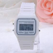 Girls Ladies Women Fashion Digital Rubber Silicone Wrist Watch Multi Sugar Color Alarm Stopwatch FYMHM105 50