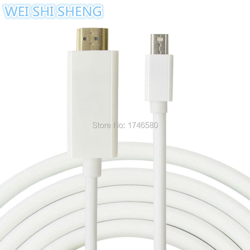 2015 New Male to Male 1.8M Mini DP to HDMI Cable Thunderbolt Mini Displayport to HDMI Adapter for Macbook Pro Air for iMac(China (Mainland))