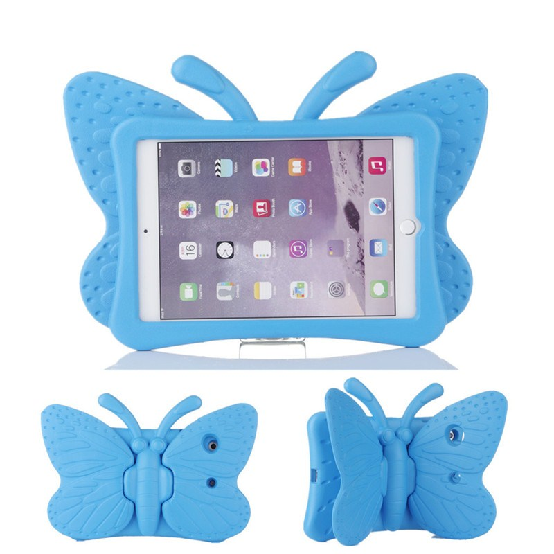 Kids Butterfly EVA foam tablette tactile tablet PC Soft wing Stand holder drop resistance back Cover Case for iPad mini 1/2/3(China (Mainland))