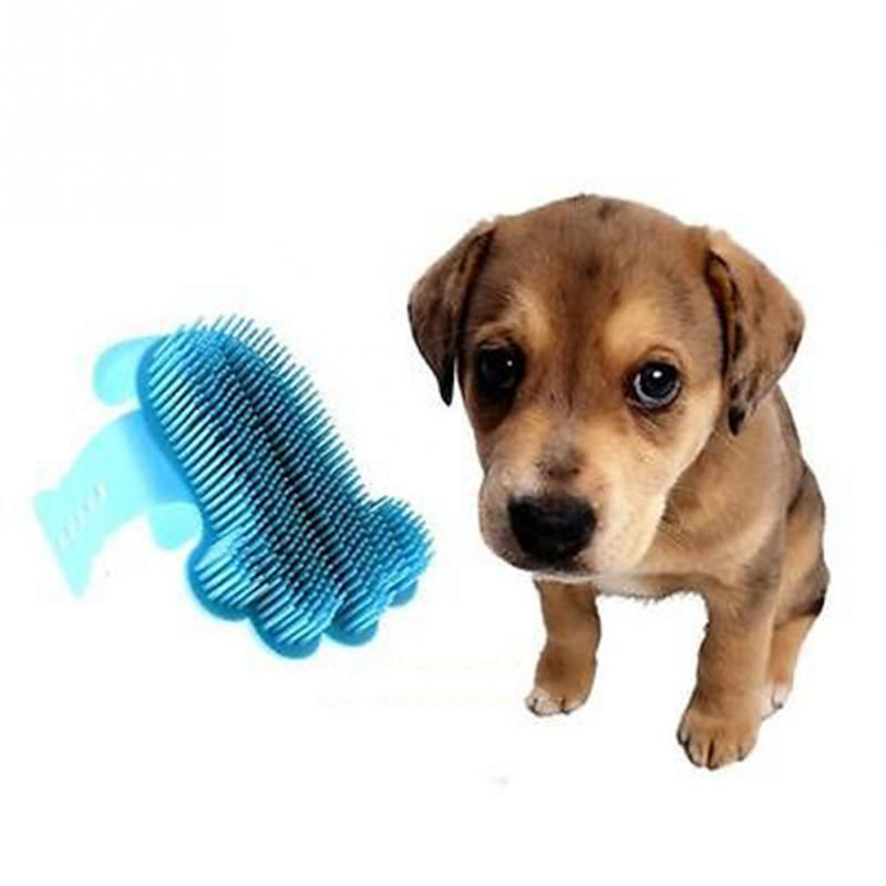 Portable Pet Cat Dog Shower Bath Brush Comb Plastic Massage Bath Brush Pet Supplies 2 Colors(China (Mainland))