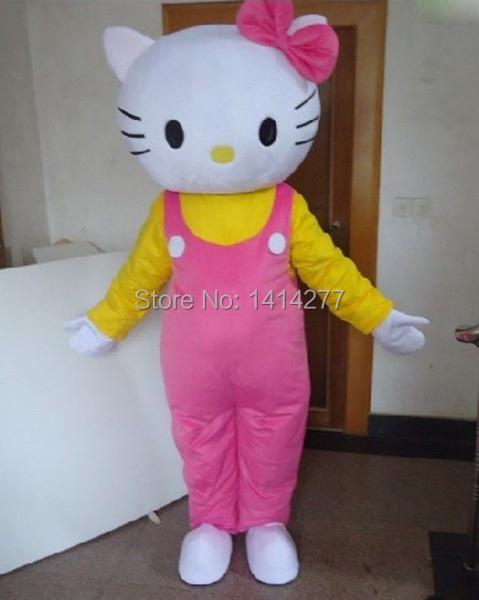 Hello Kitty Mascot Costume For Adults Hello Kitty Mascot Costume Free Shipping(China (Mainland))