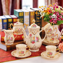 Coffee Makers 15 head of British European Coffee with European style tea set cup and saucer married / housewarming gift