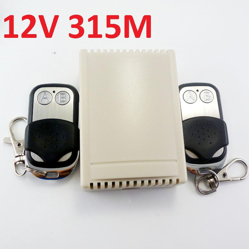 315M DC 12V 2Ch RF Wireless Delay Timer Self-locking Momentary Interlock Multifunction Relay Switch <br><br>Aliexpress