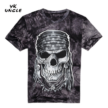 Buy YK UNCLE Brand Short Sleeve Men Tee Shirts Cotton O-Neck Fashion shirt 3D Skull Head Printed Man T-Shirt Swag Clothes Camisetas for $10.99 in AliExpress store