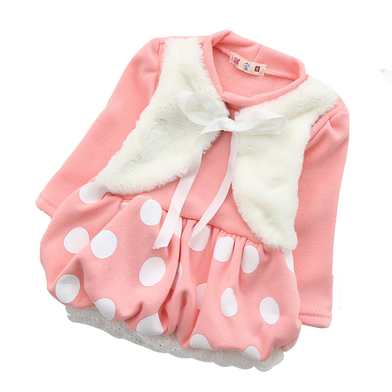 0-24M Baby coat 2015 kids Girls Long Sleeve Tutu Dress Thick Kids Dresses Baby Baptism Clothes New Baby Born Girl Dresses<br><br>Aliexpress