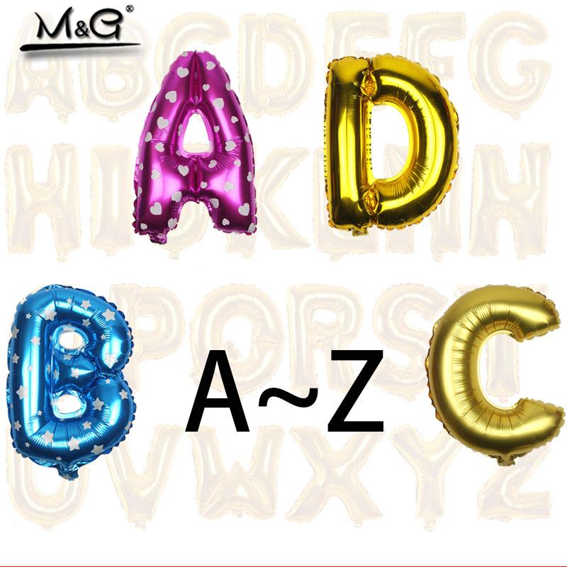 1PCS 16 inch Gold Silver Pink Aluminum Foil Balloon Wedding decorate letter balloons for children kids birthday party Decoration(China (Mainland))