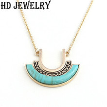 2015 New Exquisite Turquoise Necklace Fashion Charm Brand Jewelry For Women Dress Accessories