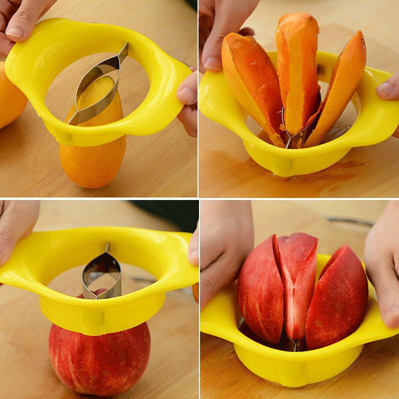 1PCS Free Shipping Easy Cutter Cut Fruit Slicer for Mango Peach Apple Pear Fruit Knife Kitchen Cooking Tool(China (Mainland))