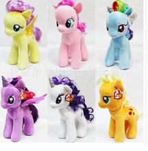 Free ship Unicorn /plush toys dolls /6 kinds of styles/18cm 30cm /kawaii baby toy/ Unicorn Toy Dolls /Single sale Kleines Pony (China (Mainland))
