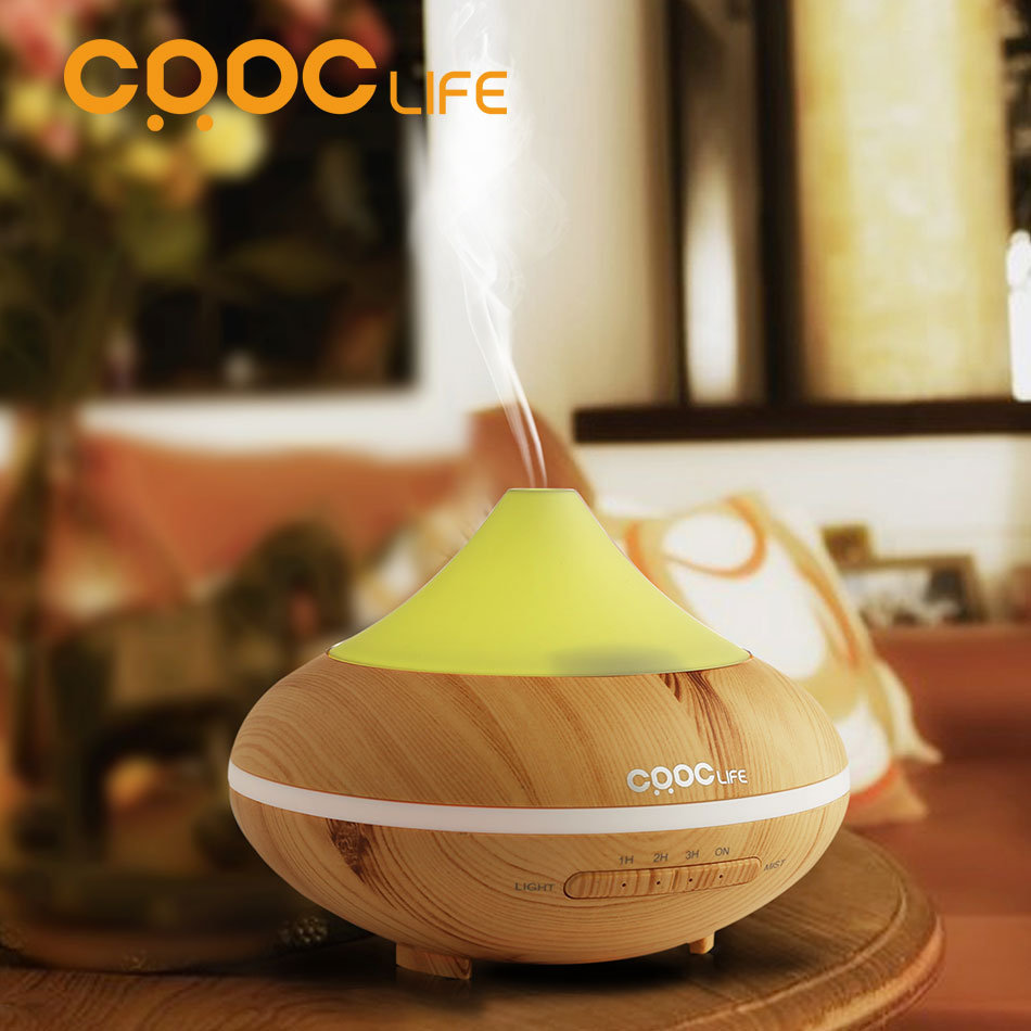 CRDC HOT Changing Color ultrasonic humidifier essential oil diffuser aroma lamp Aromatherapy electric aroma diffuser mist maker(China (Mainland))