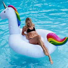Inflatable Unicorn Giant Pool Float Swimming Float For Adult Tube Raft Kid Swim Ring Summer Water Fun Pool Toy By Courier(China (Mainland))