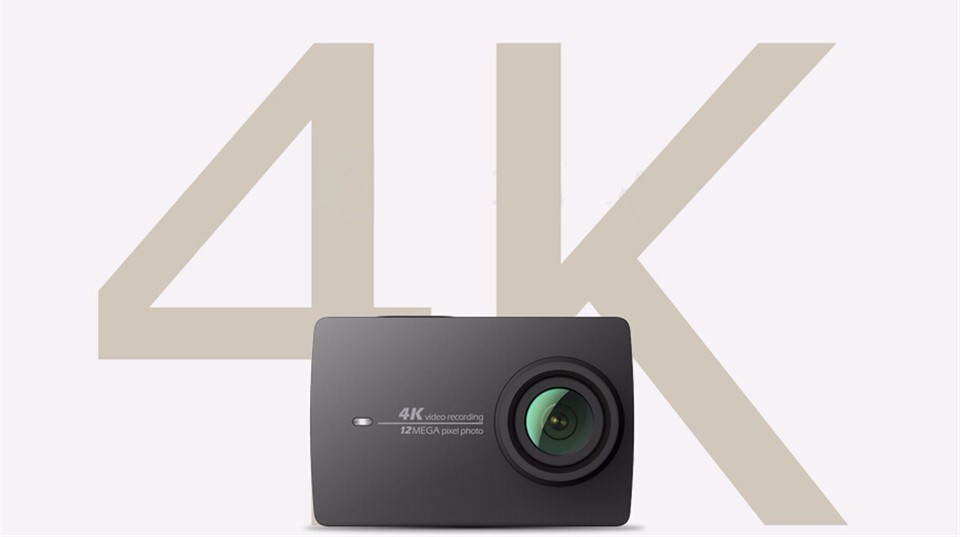 In Stock Black !! Xiaomi YI 4K Action HD Camera 2 II 2.19″ Retina Screen IMX377 12MP 155 Degree EIS LDC Sport Camera