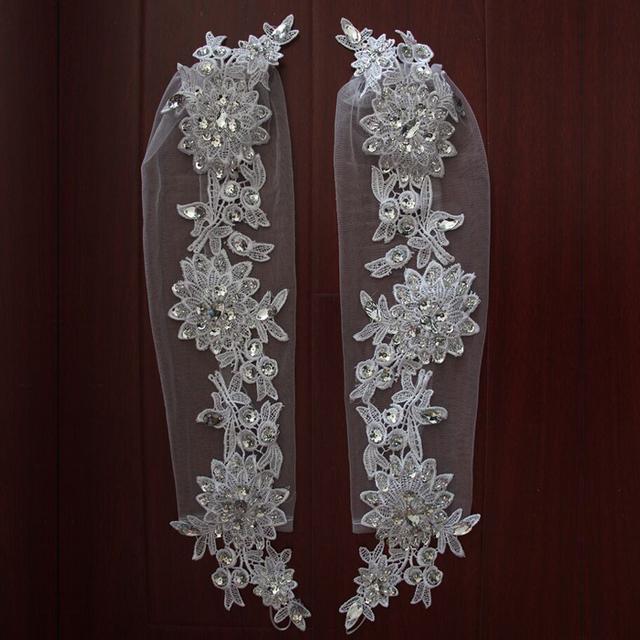 2016 свадебные аксессуары перчатки роскошный кристалл кружева перчатки длинные свадебные ...