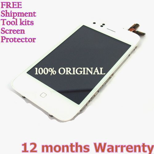 100% ORIGINAL Replacement Assembly for Iphone 3GS LCD Display Screen Touch Digitizer White+Free ship +8 tools+ screen protectors