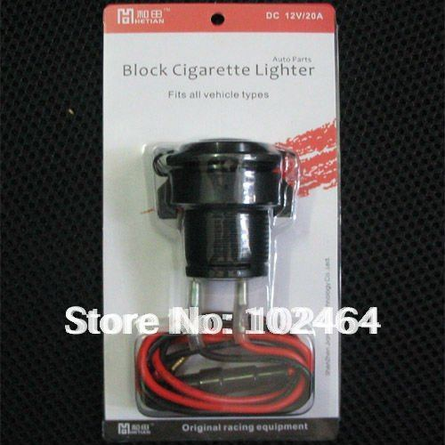 Car and motorcycle cigarette lighter seat(12V 20A)<br><br>Aliexpress