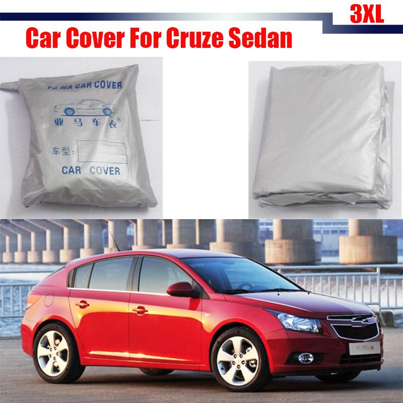 Outdoor Car Cover Anti UV Sun Shade Rain Snow Resistant Protector Cover Waterproof For Cruze Sedan(China (Mainland))