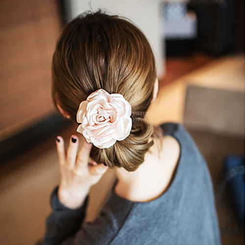 T023 Super Big size Fabric flower hair ties scrunchies hairband hair bands rope ring tie scrunchy gum for hair accessories(China (Mainland))