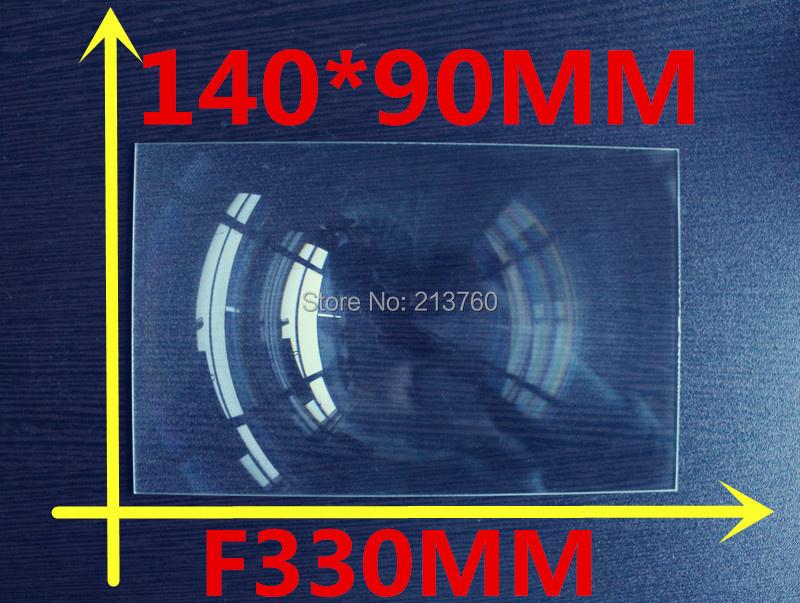 Rectangle 140*90MM Fresnel Lens focal length 330mm Lens support Custom made fresnel lens solar DIY projector hot 2017(China (Mainland))