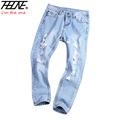 New Ripped Jeans Women Plus Size Denim Pants Capris Trousers Casual Vintage Pencil Pants Harem Boyfriend