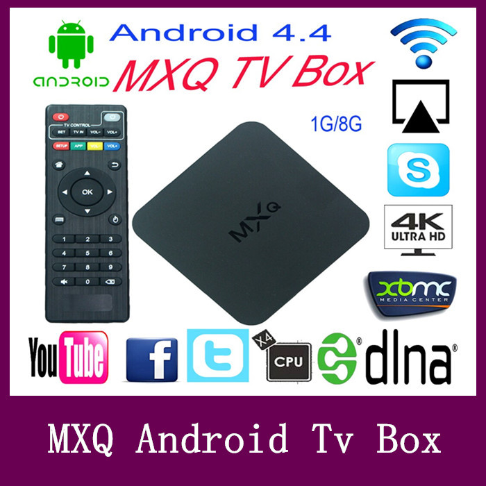 MXQ xbmc Kodi Tv Box Amlogic S805 Quad Core Google Android 4.4 Kitkat 1GB 8GB Support H.265 Smart Media Player Android Tv Box(China (Mainland))