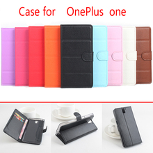 HongBaiwei Oneplus One Flip Litchi Grain Leather Case Cover Luxury Phone Bage Wallet Stand Card Solt - L-TECH Accessories store