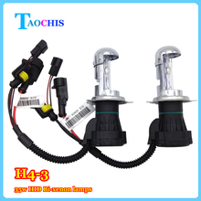 Buy TAOCHIS 12v 55w Car HID Headlight H4-3 Bi-Xenon Hi/Lo replacement bulbs 43000k 6000k 8000k head lamps lights for $12.96 in AliExpress store