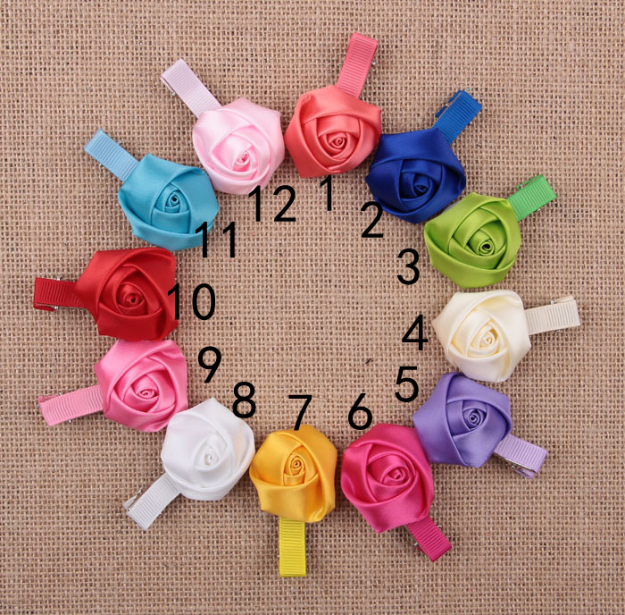 1pcs/set selling children's rose with ribbon double mouth Clip Card baby hairpin headwear accessories decorative items Lj001(China (Mainland))