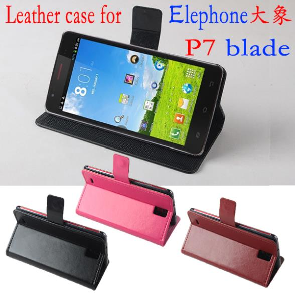 Free shipping Leather PU cover case for Elephone P7 Razr cover case(China (Mainland))