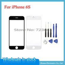 """Buy Original New Screen Outer Lens Front Glass iPhone 6S 4.7"""" i6s Touch Glass Lens Replacement Repair Part + Tools White / Black for $2.68 in AliExpress store"""